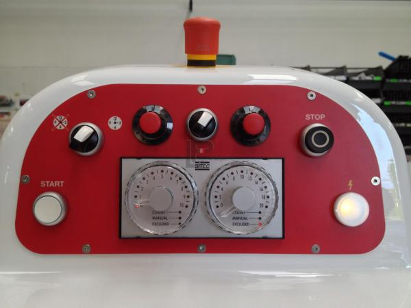 pannello comandi con doppio timer elettromeccanico con potenziometri